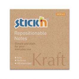 Блок самоклеящийся бумажный Stick`n 21639 76x76мм 100лист. 62г/м2 Kraft Notes 12 шт./кор.