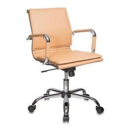 Кресло руководителя БЮРОКРАТ Ch-993-Low, на колесиках, искусственная кожа, светло-коричневый [ch-993-low/camel]