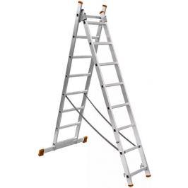 Лестница ВИХРЬ ЛА 73/5/1/27, 6 м, нагрузка 150 кг, 2 х 11 ступеней, двухсекционная, алюминиевая
