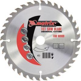 Пильный диск по дереву, 216 х 32мм, 24 зуба + кольцо 30/32 Matrix Professional 73227