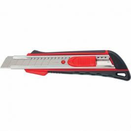 Нож, 18 мм выдвижное лезвие, метал. направляющая, эргоном. двухкомпонентная рукоятка MATRIX