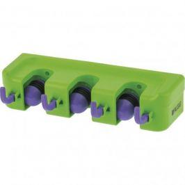 Настенный держатель для садового инструмента, 3 ячейки, 4 крюка Palisad