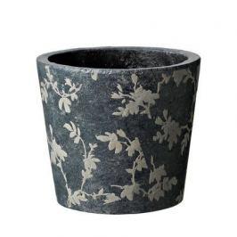 Кашпо Tea Vaso Grey, серое, 18x15.5 см 5700010B Deroma