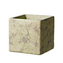 Кашпо Tea Quadro Beige, бежевое, 15.5x15 см 5700021B Deroma
