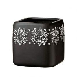 Кашпо Gipsy Quadro Black, черное, 12.5x13 см 5700041A Deroma