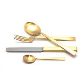 Набор столовых приборов Bauhaus gold, матовые, 24 пр. 9322 Cutipol