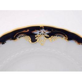 Тарелка для торта Соната Темно-синяя окантовка с золотом, 27 см 07111027-1357 Leander