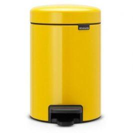 Мусорный бак с педалью newIcon (3 л), 26.4х17х23.5 см, желтая 113123 Brabantia
