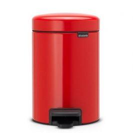 Мусорный бак с педалью newIcon (3л), 26.4х17х23.5см, красный 112140 Brabantia