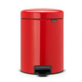 Мусорный бак с педалью newIcon (5 л), 29.2х20.6х26.6 см, красный 112089 Brabantia