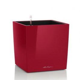 Кашпо Кьюб 40, красное блестящее, с системой полива 16367 Lechuza