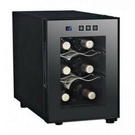 Винный шкаф (16 л), на 6 бутылок, черный DAT-6.16C Dunavox