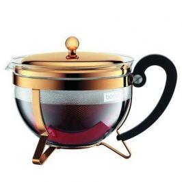 Чайник заварочный Chambord (1.3 л), золото, в подарочной упаковке 11656-17 Bodum