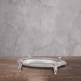 Поднос, 25x16x4 см, серебряный 11104 Roomers