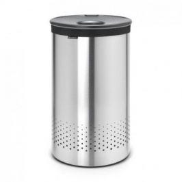 Бак для белья с пластиковой крышко (60 л), стальной матовый 105166 Brabantia