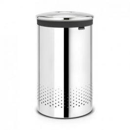 Бак для белья с металической крышкой (60 л), стальной полированный 105203 Brabantia