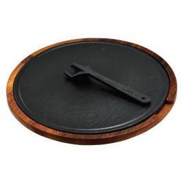 Литая чугунная форма для пиццы, 34 см со съемной ручкой и подставкой LVHRCHP34AS262IR LAVA
