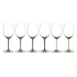 Набор фужеров Cabernet Merlot (625 мл), хрустальное стекло с разноцветными ножками, 6 шт. 7900/0 Riedel