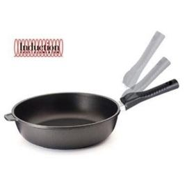 Литая глубокая сковорода Click Induction, 24 см 00104INS/24TP Risoli