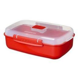 Контейнер Microwave (1.25 л), 23.2х14.9х7.8 см, красный 1114 Sistema