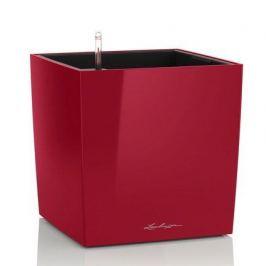 Кашпо Кьюб 50, красное блестящее, с системой полива 16567 Lechuza