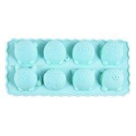 Форма дляльда или шоколада Круглые Зверята 22x10.5x2.8см, 8 ячеек 6549 Fissman