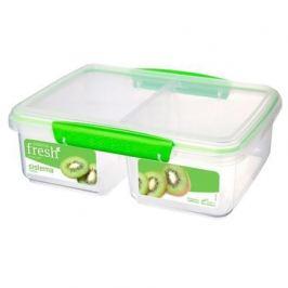 Контейнер Fresh двойной (2 л), 23.5х17х9 см, зеленый 951720 Sistema
