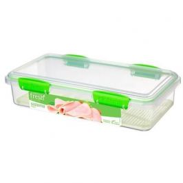 Контейнер для закусок Fresh (1.75 л), 29х15.2х7 см, зеленый 951481 Sistema