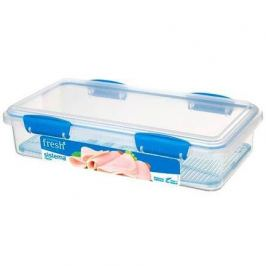 Контейнер для закусок Fresh (1.75 л), 29х15.2х7 см, голубой 921481 Sistema
