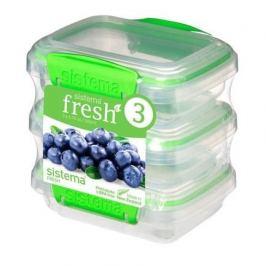 Набор контейнеров Fresh (200 мл), 11.5х9х12 см, 3 шт, зеленый 951523 Sistema