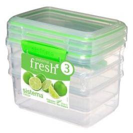 Набор контейнеров Fresh (1 л), 17.5х11.7х16 см, 3 шт, зеленый 951613 Sistema