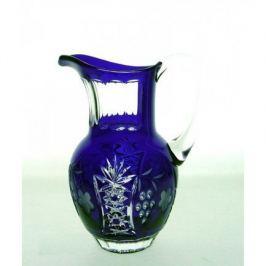 Кувшин Grape (1.2 л), синий cobaltblue/64571/51380/48359 Ajka Crystal