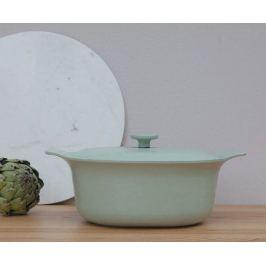 Кастрюля чугунная овальная Ron (5.2 л), 22х28 см, зеленая 3900044 BergHOFF