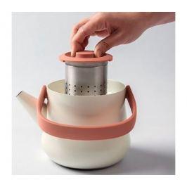 Чайник 2в1 для плиты и заварочный Ron (1.0 л), белый 3900048 BergHOFF