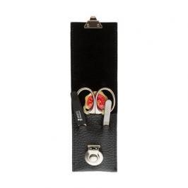 Маникюрный набор, 3 пр., футляр кожаный, чёрный A3106RF Mertz Manicure
