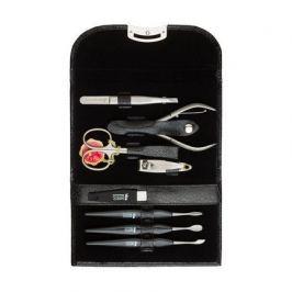 Маникюрный набор, 8 пр., футляр кожаный, чёрный A8440RF Mertz Manicure