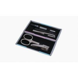 Маникюрный набор Yes, 5 пр., в металлическом футляре, цвет серый/бирюзовый/розовый 9316GAR Yes