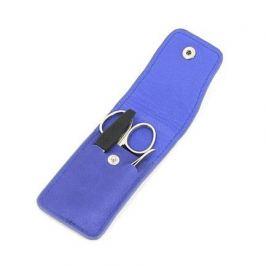 Маникюрный набор, 3 пр., в футляре из натуральной кожи, синий 1503BON GD