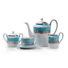 Сервиз чайный Mimosa Monaco Blue Turquoise, 15 пр. 679510 1626 Tunisie Porcelaine