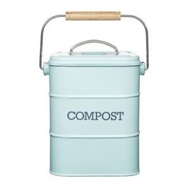 Бак для мусора Living Nostalgia (3 л), 16.5х12х24 см, голубой LNCOMPBLU Kitchen Craft