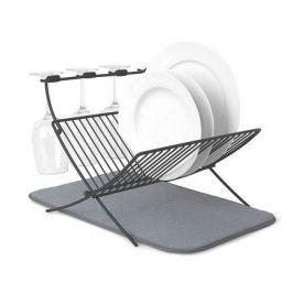 Сушилка для посуды c ковриком Xdry, 36.8х30х50.8 см, серая 1009253-149 Umbra