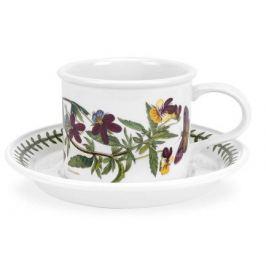 Чашка для завтрака с блюдцем Фиалка трехцветная (260 мл) PRT-BG04152-15D Portmeirion