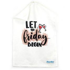 Полотенце кухонное Let Friday begin, 50x70 см DA70241 Daribo