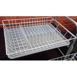 Сушилка для посуды 1-ярусная, 43.533.58 см, белая W14433088 Walmer
