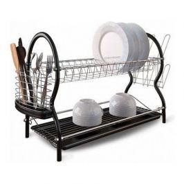 Cушилка для посуды 2-ярусная, 43x25.5x39 см, черная W04325539 Walmer