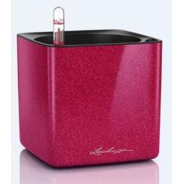 Кашпо Cube Glossy Kiss, 14х14х13.5 см, вишневое блестящее, с системой автополива 13514 Lechuza