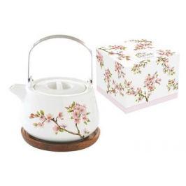 Чайник (0.75 л) на подставке из акации Японская сакура, в подарочной упаковке EL-R1089_SAKU Easy Life (R2S)