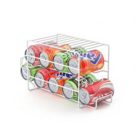 Подставка для напитков в алюминиевых банках Basics, 37.5х14х18.5 см, белая 26818 Balvi