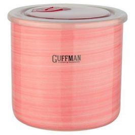 Банка Ceramics керамическая с крышкой, 13х12 см, розовая C-06-009-P Guffman