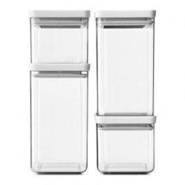 Набор прямоугольных контейнеров, 4 шт, светло-серый 122569 Brabantia